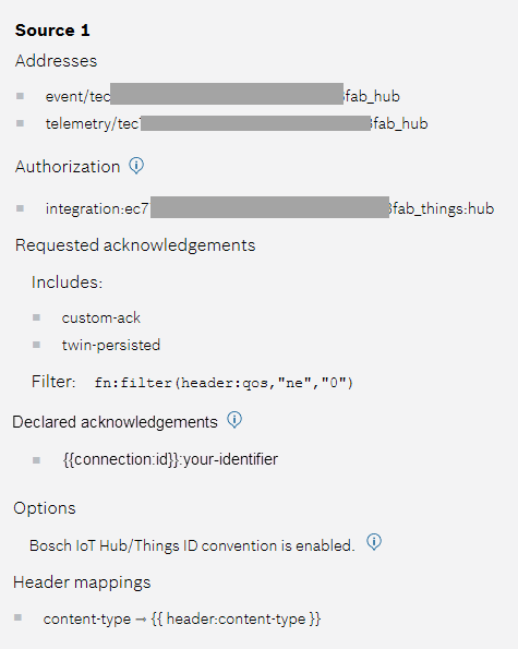 Bosch IoT Things connection example